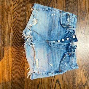 Agolde light denim shorts size 25
